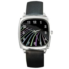 Graphic Design Graphic Design Square Metal Watch by Nexatart