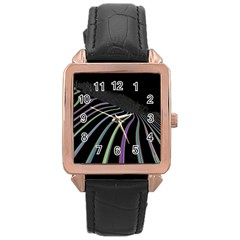 Graphic Design Graphic Design Rose Gold Leather Watch  by Nexatart
