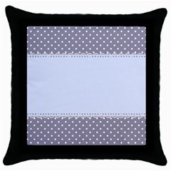 Blue Modern Throw Pillow Case (black) by Nexatart