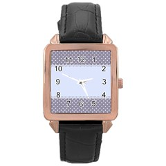 Blue Modern Rose Gold Leather Watch