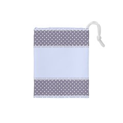 Blue Modern Drawstring Pouches (small)  by Nexatart