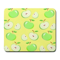 Apples Apple Pattern Vector Green Large Mousepads by Nexatart