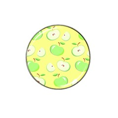 Apples Apple Pattern Vector Green Hat Clip Ball Marker (10 Pack) by Nexatart