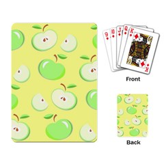Apples Apple Pattern Vector Green Playing Card by Nexatart