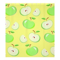Apples Apple Pattern Vector Green Shower Curtain 66  X 72  (large)  by Nexatart