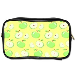 Apples Apple Pattern Vector Green Toiletries Bags by Nexatart