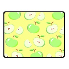 Apples Apple Pattern Vector Green Fleece Blanket (small)