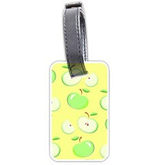 Apples Apple Pattern Vector Green Luggage Tags (two Sides) by Nexatart