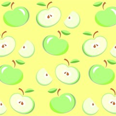 Apples Apple Pattern Vector Green Magic Photo Cubes by Nexatart