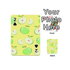 Apples Apple Pattern Vector Green Playing Cards 54 (mini)  by Nexatart