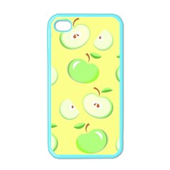 Apples Apple Pattern Vector Green Apple Iphone 4 Case (color) by Nexatart