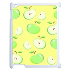 Apples Apple Pattern Vector Green Apple Ipad 2 Case (white) by Nexatart