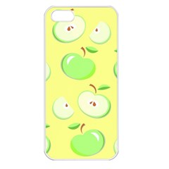 Apples Apple Pattern Vector Green Apple Iphone 5 Seamless Case (white) by Nexatart