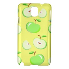 Apples Apple Pattern Vector Green Samsung Galaxy Note 3 N9005 Hardshell Case by Nexatart