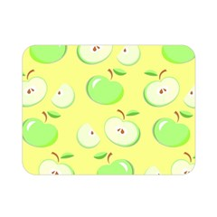 Apples Apple Pattern Vector Green Double Sided Flano Blanket (mini)  by Nexatart