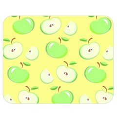 Apples Apple Pattern Vector Green Double Sided Flano Blanket (medium)  by Nexatart