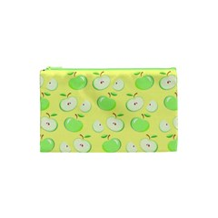 Apples Apple Pattern Vector Green Cosmetic Bag (xs) by Nexatart