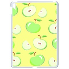 Apples Apple Pattern Vector Green Apple Ipad Pro 9 7   White Seamless Case by Nexatart