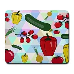 Vegetables Cucumber Tomato Large Mousepads by Nexatart
