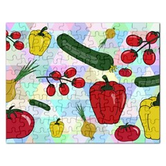 Vegetables Cucumber Tomato Rectangular Jigsaw Puzzl by Nexatart