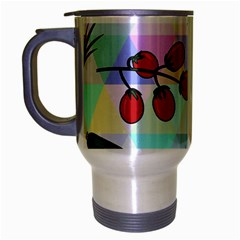 Vegetables Cucumber Tomato Travel Mug (silver Gray) by Nexatart