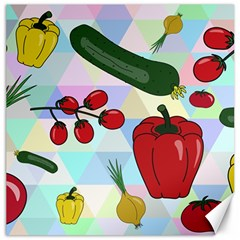 Vegetables Cucumber Tomato Canvas 20  X 20   by Nexatart