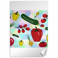 Vegetables Cucumber Tomato Canvas 20  X 30   by Nexatart