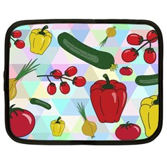 Vegetables Cucumber Tomato Netbook Case (xl)  by Nexatart