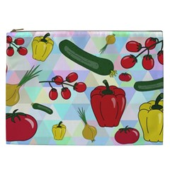 Vegetables Cucumber Tomato Cosmetic Bag (xxl)  by Nexatart