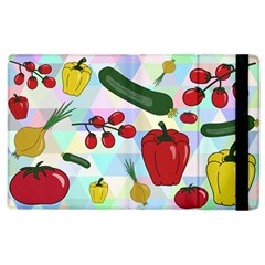 Vegetables Cucumber Tomato Apple Ipad 3/4 Flip Case