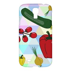 Vegetables Cucumber Tomato Samsung Galaxy S4 I9500/i9505 Hardshell Case by Nexatart