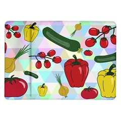 Vegetables Cucumber Tomato Samsung Galaxy Tab 10 1  P7500 Flip Case