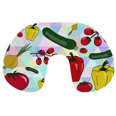 Vegetables Cucumber Tomato Travel Neck Pillows