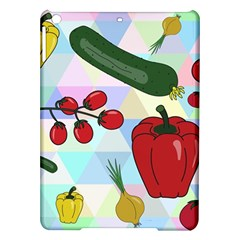 Vegetables Cucumber Tomato Ipad Air Hardshell Cases by Nexatart