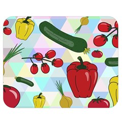 Vegetables Cucumber Tomato Double Sided Flano Blanket (medium)  by Nexatart