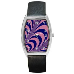 Fractals Vector Background Barrel Style Metal Watch by Nexatart