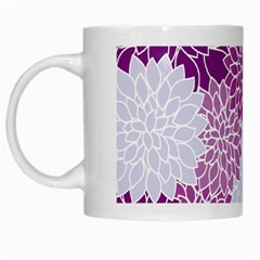 Floral Wallpaper Flowers Dahlia White Mugs