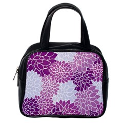Floral Wallpaper Flowers Dahlia Classic Handbags (one Side)