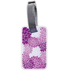 Floral Wallpaper Flowers Dahlia Luggage Tags (two Sides)