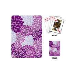 Floral Wallpaper Flowers Dahlia Playing Cards (mini)  by Nexatart
