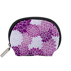 Floral Wallpaper Flowers Dahlia Accessory Pouches (small)