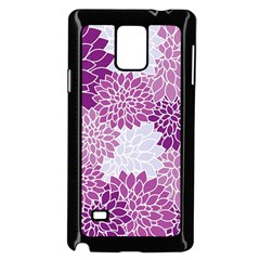 Floral Wallpaper Flowers Dahlia Samsung Galaxy Note 4 Case (black)