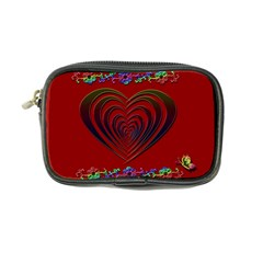 Red Heart Colorful Love Shape Coin Purse by Nexatart