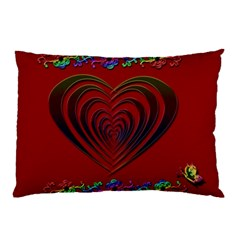 Red Heart Colorful Love Shape Pillow Case (two Sides)