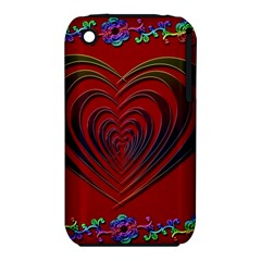 Red Heart Colorful Love Shape Iphone 3s/3gs