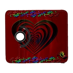 Red Heart Colorful Love Shape Galaxy S3 (flip/folio)
