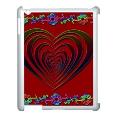 Red Heart Colorful Love Shape Apple Ipad 3/4 Case (white) by Nexatart