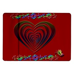 Red Heart Colorful Love Shape Samsung Galaxy Tab 10 1  P7500 Flip Case