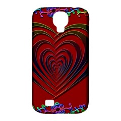 Red Heart Colorful Love Shape Samsung Galaxy S4 Classic Hardshell Case (pc+silicone) by Nexatart