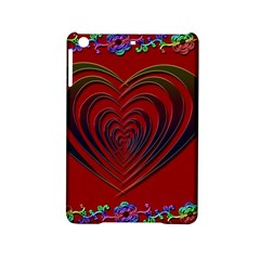 Red Heart Colorful Love Shape Ipad Mini 2 Hardshell Cases by Nexatart